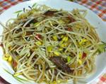 黄豆芽炒腊肉