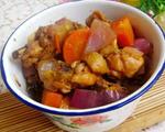 胡萝卜洋葱焖鸡块