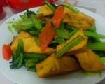 油菜豆腐泡