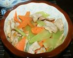 青笋胡萝卜炒肉