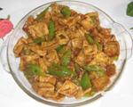 豆腐泡炒青椒
