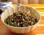 榄菜豆角炒肉松