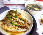 辣酸菜蒸鲩鱼&螺旋藻蛋花汤