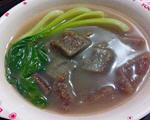 青菜虾皮酥肉汤