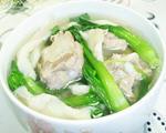鸡毛菜平菇排骨汤