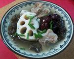 莲藕木耳排骨汤