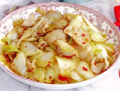 炝炒白菜的白菜_炝炒做法做好吃_家常菜一天吃螃蟹图片