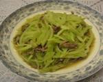 莴笋炒牛肉丝