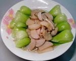 杏鲍菇炒小油菜