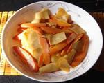 胡萝卜烧豆皮