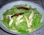 杏鲍菇炒西芹