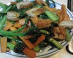 烧肉炒菜心
