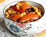 高压锅黄豆炖猪蹄