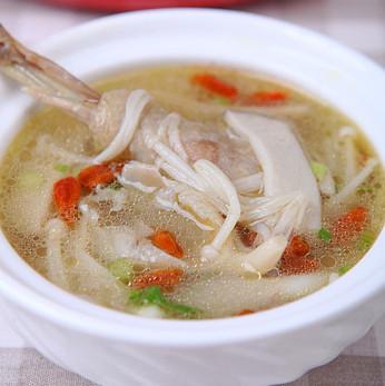 金针菇鸡汤