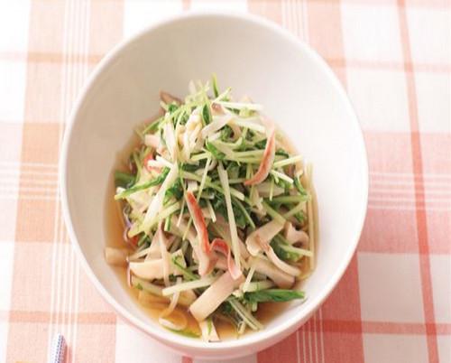 舒压必吃!京水菜煨杏鲍菇