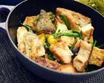 味噌鲑鱼头豆腐煲