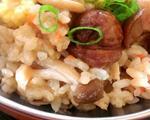 百菇栗子鸡肉炊饭