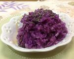 清蒸紫色山药饼