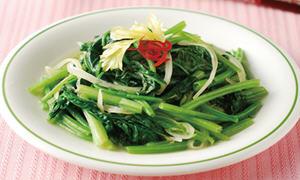 蒜蓉炒菠菜(无苦涩味)