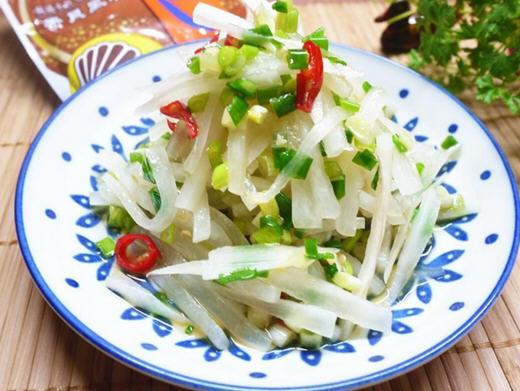葱油萝卜丝的做法_家常最简单的葱油萝卜丝怎么做好吃图解