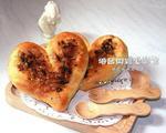 海苔肉松心形面包