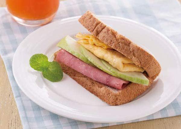洋葱冰食谱:火腿蛋吐司。(图片/人类智库提供)