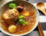 油豆腐镶肉煮冬粉