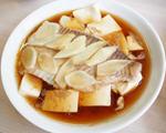 嫩豆腐蒸鲷鱼片