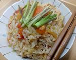胡萝卜番茄蒸米饭