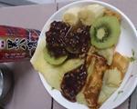 水果红豆松饼