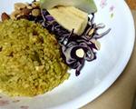 金色穗稻咖哩鲑鱼炊饭