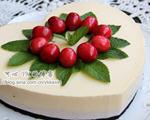 黄桃草莓慕斯(不用烤箱的蛋糕)