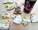 紫米红豆糖霜饼干