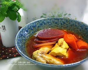 甜菜根炖鸡汤