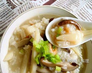 竹笋香菇肉丝粥