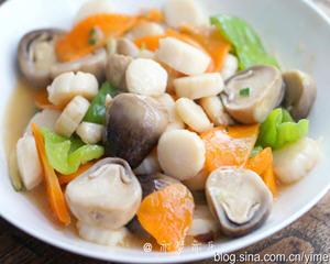 草菇炒鲜贝