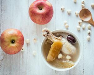 苹果山药莲子鸡汤