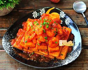 茄汁虾仁煎豆腐