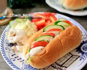马铃薯鸡肉沙拉堡