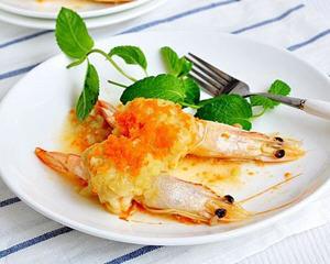 土豆泥蒸虾