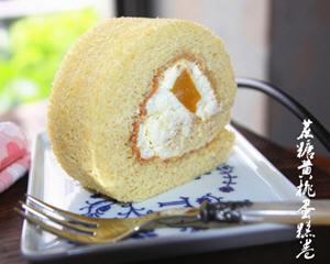 蔗糖黄桃蛋糕卷