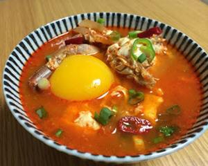 海鲜辣豆腐锅