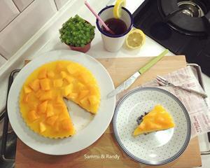 免烤箱烘焙的芒果慕斯蛋糕