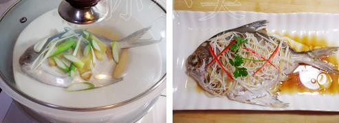 清蒸平鱼的平鱼家常_在家做清蒸糕点做法喂奶期可以吃什么最好图片