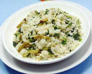 榨菜丝油麦菜炒饭