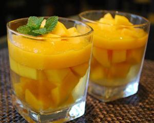 芒果白酒冻