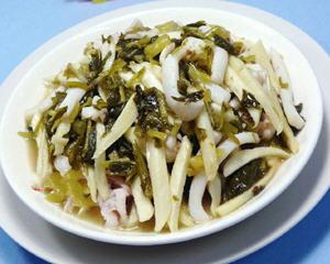雪菜茭白炒鱿鱼