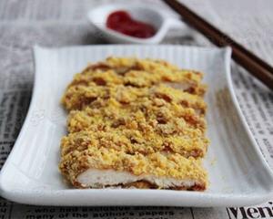 玉米片烤鸡排(无油低热量)
