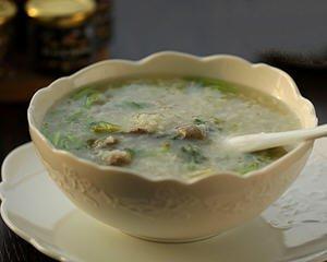 香菜猪肝阴米粥