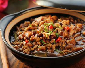 香菇肉酱茄子煲